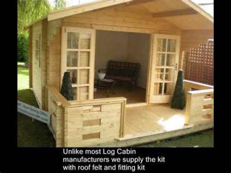 how to build own house how to build a log cabin or summerhouse in your garden youtube