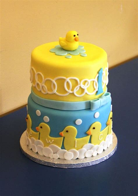 baby themed rubber sts 233 best ducky cakes images on baby cakes