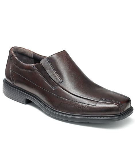 clarks loafers for clarks s deane bike toe loafers in brown for lyst