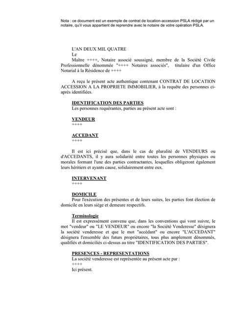 Exemple De Contrat De Location Meublée by Exemple De Contrat De Location Accession Doc Pdf