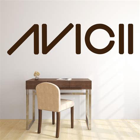 wall stickers home decor avicii logo wall sticker band wall decal dj club