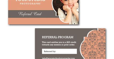 photography referral card templates squijoo referral card template templates