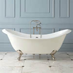 71 quot gretta cast iron slipper clawfoot tub bathroom