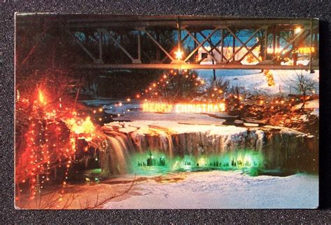 1960s Christmas Lighting Fire Company Ludlow Falls Oh Ebay Ludlow Falls Ohio Lights