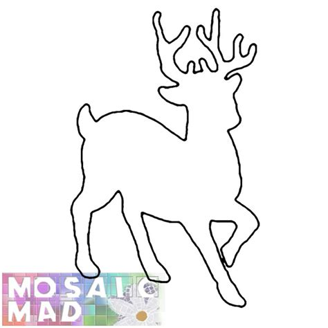 printable reindeer antlers pattern 9 best images of printable reindeer patterns free