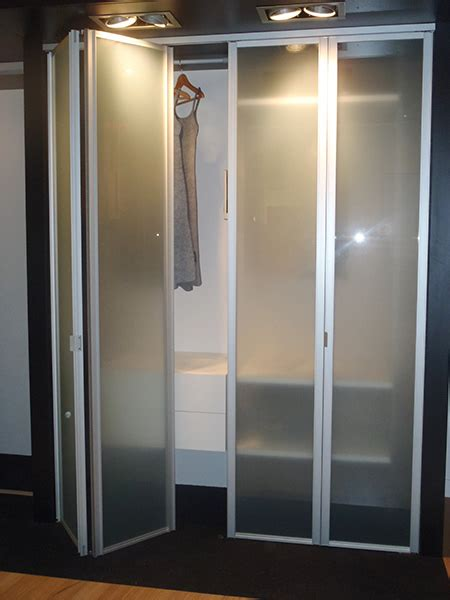Mirrored Accordion Closet Doors Bifold Closet Doors Creative Mirror Shower