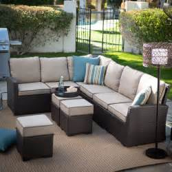 patio sectionals belham living monticello all weather outdoor wicker sofa
