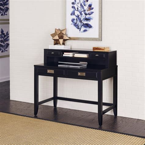 black student desk with hutch renovations by thomasville 2 shelf engineered wood desk