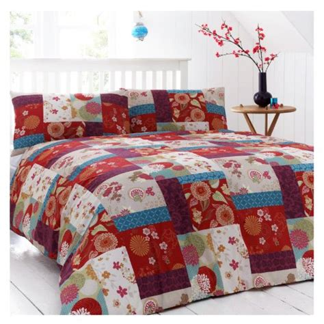 patchwork bedding just contempo king size duvet cover kingsize shabby chic poly cotton bedding
