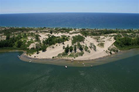 ontario sand banks sandbanks dunes sandbanks provincial park is located two