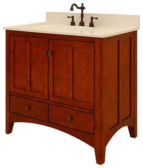expressions assembled vanity craftsman bathroom