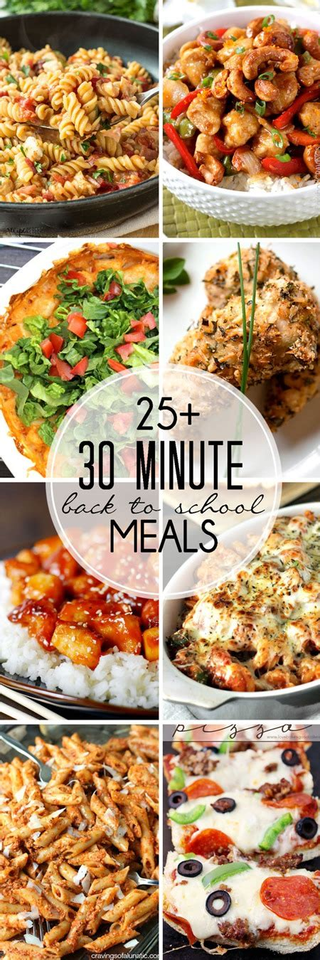 30 Minute Meals 30 minute meals for back to school