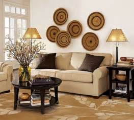 home wall decorating ideas modern wall decoration with ethnic wicker plates bowls and baskets