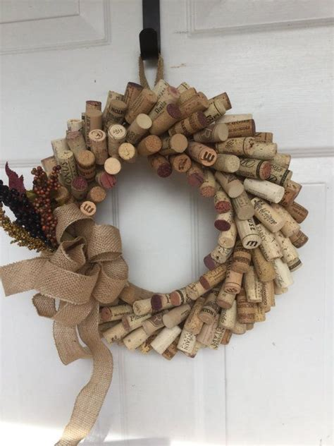 wine cork wreath pinteres