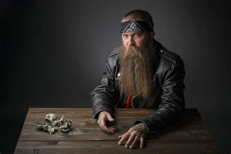 bearded biker at the table wallpapers and images