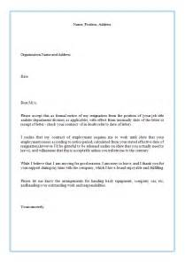 How To Write A Letter Resignation by How To Write A Resignation Letter Sle Sle Business Letter