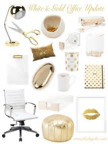 White And Gold Home Decor by Gold Office Decor Home Decore Inspiration