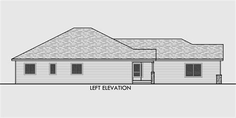 one level house plans one level house plans side view house plans narrow lot house