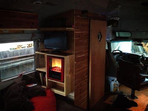conversion gling rv fireplace mini rv caravan
