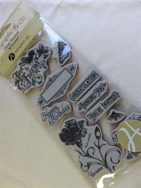 graphic 45 rubber sts graphic 45 time to flourish rubber cling st set 1