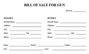 gun bill of sale form