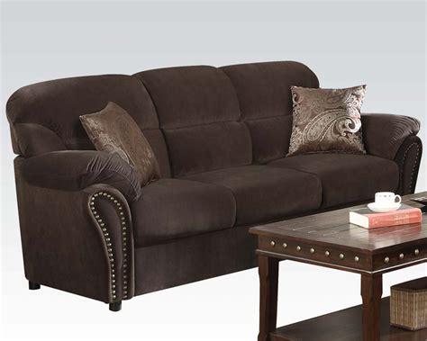 Acme Furniture Sofa by Acme Furniture Sofa Chocolate Ac50950