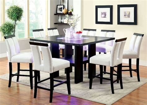 black led table l luminar 9pc black finish contemporary style l e d counter
