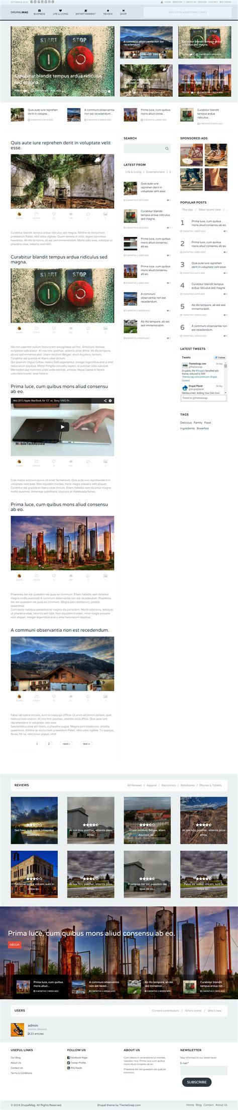 drupal themes multilanguage 20 best responsive drupal magazine themes 2017
