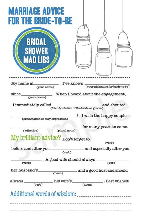 mad gab card template jar bridal shower mad libs pdf file by camispaperie
