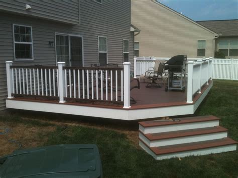 Prefinished Hickory Flooring by Pvc Decking Canyon Brown Fireside Timbertech Radiancerail