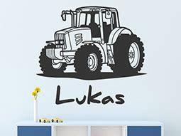 kinderzimmer tapete trecker wandtattoo trecker mit wunschname traktor wandtattoos de