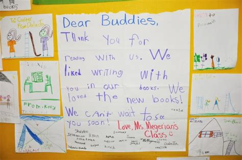 Thank You Note To 4th Grade 4th Grade Spreads Of Reading Through Buddy Program International School Of The Peninsula