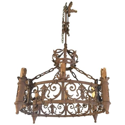 forged iron chandeliers antique forged iron chandelier with fleur de lys