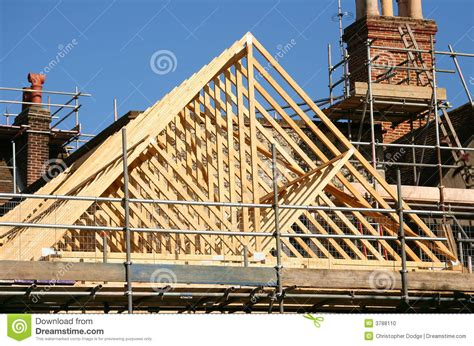 Timber Roof Roof Timber Frame Stock Photo Image 3788110