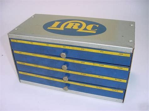 metal resistor shelf vintage irc assortment resistors metal storage cabinet