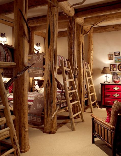 aspen ski lodge rustic with bedroom themed wall decor