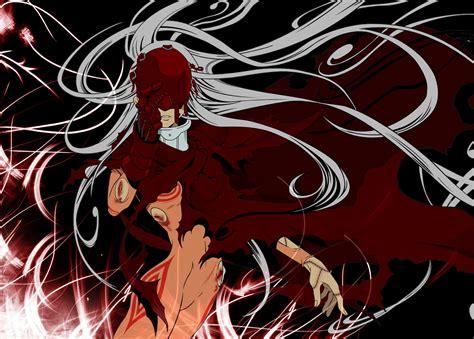 red man deadman wonderland red deadman wonderland white hair shiro deadman