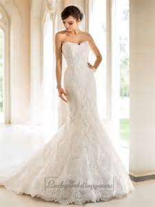 strapless trumpet mermaid sweetheart lace wedding dresses miss pool