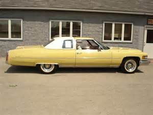 Yellow Cadillac Sell Used 1975 Cadillac Coupe Bombay Yellow W