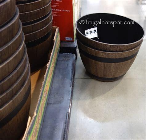 Costco Whiskey Barrel Planter by Costco Sale Wine Barrel High Density Resin Planter 9 79