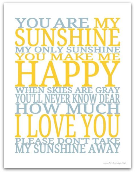 you are my sunshine printable lyrics artwork chalkboard 40 b 228 sta id 233 erna om prints p 229 pinterest gratis