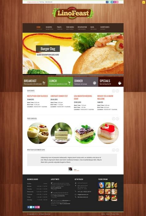 wordpress restaurant layout 13 best food wordpress themes website templates images