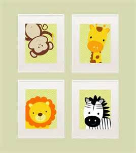 Jungle Wall Decor For Nursery Safari Printable Nursery Wall Decor By Kutzypartyboutique On Etsy