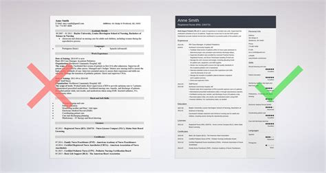 Nursing School Resume Template by Nursing Resume Sle Complete Guide 20 Exles