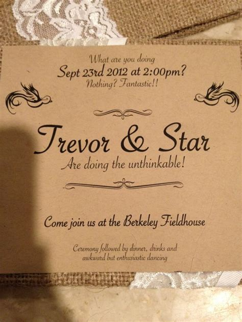 make your own wedding invitation wording non traditional wedding invitation wording sansalvaje