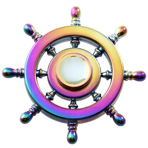 rainbow wheel fidget spinner spinner edc adhd toys
