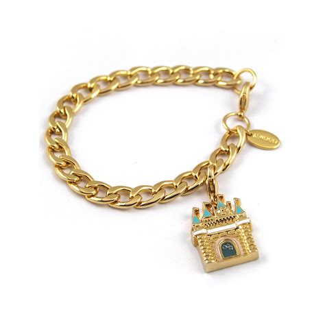 disney couture disney couture charm starter bracelet gold