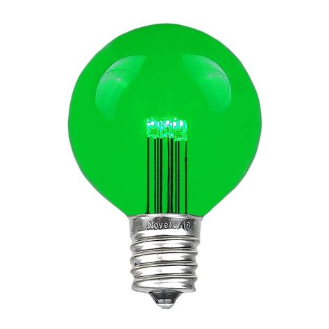 and green light bulbs g50 globe bulbs