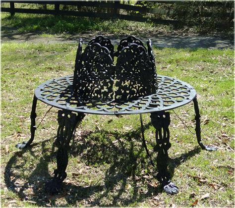 old garden bench victorian tree surround vintage replica garden furniture