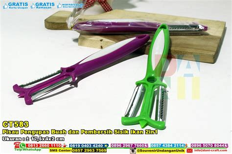 Promosi Produk Souvenir Pernikahan Pisau Pengupas Buah 1 pisau pengupas buah dan pembersih sisik ikan 2in1